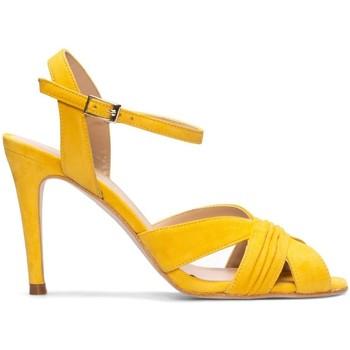 Schuhe Damen Sandalen / Sandaletten Gennia FERIDE Veloursleder Senfgelb Gelb