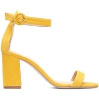 Schuhe Damen Sandalen / Sandaletten Gennia FULAR Veloursleder Senfgelb Gelb