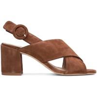 Schuhe Damen Sandalen / Sandaletten Gennia IDOYA Veloursleder Braun Braun