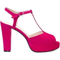 Schuhe Damen Sandalen / Sandaletten Gennia IRIS Veloursleder Pink Pink