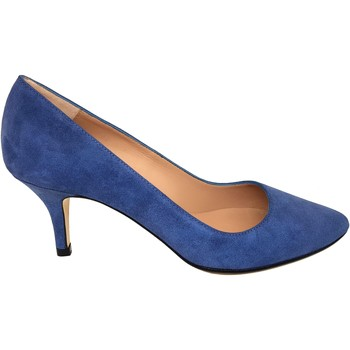 Schuhe Damen Pumps Gennia ISA Veloursleder Blau Print