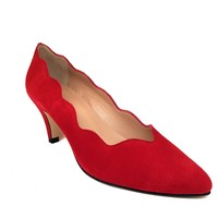 Schuhe Damen Pumps Gennia ISCOBA Rot Veloursleder Rot