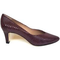 Schuhe Damen Pumps Gennia ISORBO Leder in Schlangenprägung, Bordeaux Other