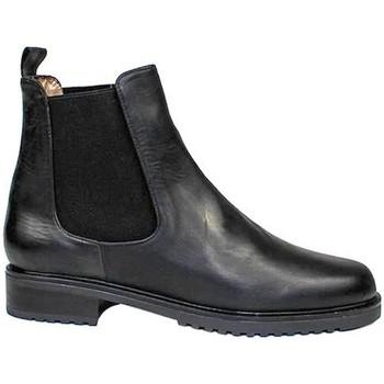 Schuhe Damen Boots Gennia JADA Schwarz Nappaleder Schwarz