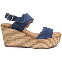 Schuhe Damen Sandalen / Sandaletten Gennia JANE Rauhleder Blau Blau