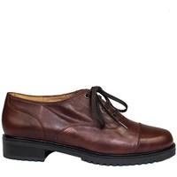 Schuhe Damen Derby-Schuhe Gennia JANET Dunkelbraun Leder Farbton Niger Braun