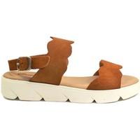 Schuhe Damen Sandalen / Sandaletten Gennia JULIA Rauhleder Braun Braun