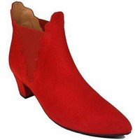 Schuhe Damen Low Boots Gennia KATERINE Veloursleder Rot Rot