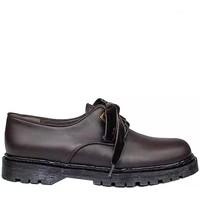 Schuhe Damen Derby-Schuhe Gennia KRISTEL Dunkelbraun Leder Farbton Niger Braun