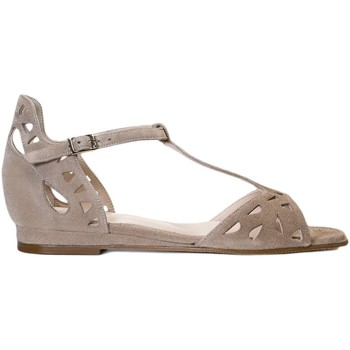 Schuhe Damen Sandalen / Sandaletten Gennia LUNA Veloursleder Taupe Braun