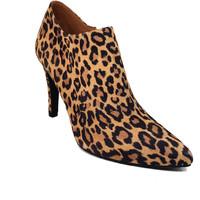 Schuhe Damen Ankle Boots Gennia MALISO Veloursleder Leopard Braun