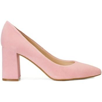 Schuhe Damen Pumps Gennia MARA Veloursleder Pastell Pink Pink