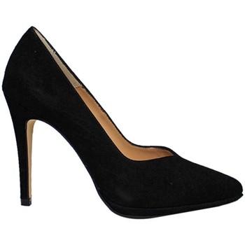 Schuhe Damen Pumps Gennia MERCURY Schwarz Veloursleder Schwarz