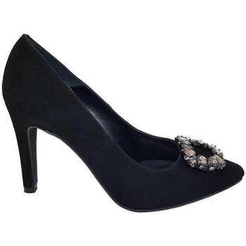 Schuhe Damen Pumps Gennia MINERVA Schwarz Veloursleder Schwarz