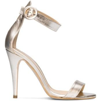 Schuhe Damen Sandalen / Sandaletten Gennia NALA Gold Platin Nappaleder Metal Gold