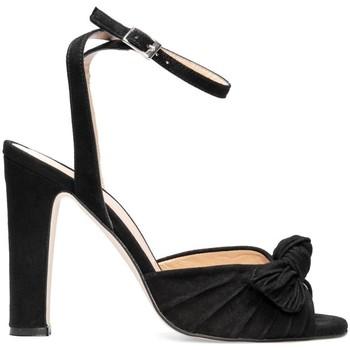 Schuhe Damen Sandalen / Sandaletten Gennia NEUS Schwarz Veloursleder Schwarz