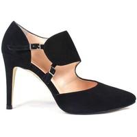 Schuhe Damen Pumps Gennia RESPIRO Schwarz Veloursleder Schwarz