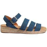 Schuhe Damen Sandalen / Sandaletten Gennia SALMA Rauhleder Blau Blau