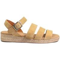 Schuhe Damen Sandalen / Sandaletten Gennia SALMA Rauhleder Beige Camel Beige