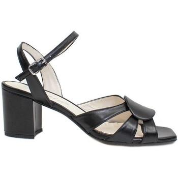 Schuhe Damen Sandalen / Sandaletten Gennia SILVIA Nappaleder schwarz Schwarz