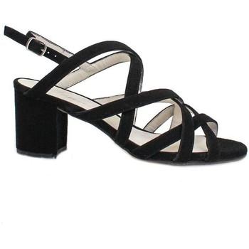 Schuhe Damen Sandalen / Sandaletten Gennia SOFIA Veloursleder schwarz Schwarz