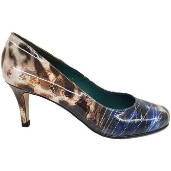 Schuhe Damen Pumps Gennia VETE Lackleder Multicolor Animal-Print