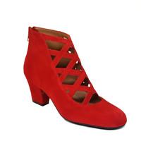 Schuhe Damen Low Boots Gennia XUPPA Veloursleder Rot Rot