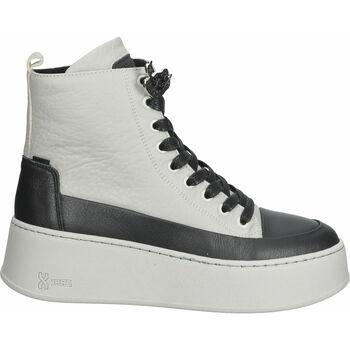 Schuhe Damen Boots Bronx Stiefelette Schwarz/Grau