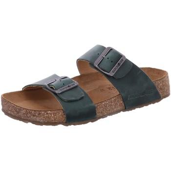 Schuhe Damen Pantoffel Haflinger Pantoletten Andrea 819016-773 blau