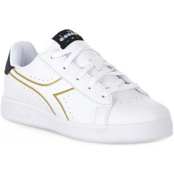 Schuhe Mädchen Sneaker Low Diadora 2296 GAME P PS GIRL Bianco