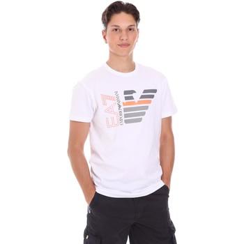Kleidung Herren T-Shirts Ea7 Emporio Armani 3KPT22 PJ6EZ Weiß