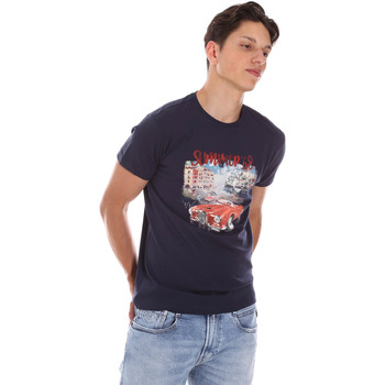 Kleidung Herren T-Shirts Key Up 2S427 0001 Blau