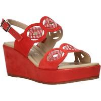 Schuhe Damen Sandalen / Sandaletten Valleverde 32214 Rot