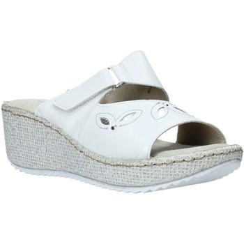 Schuhe Damen Pantoffel Valleverde 20221 Weiß