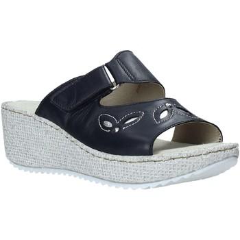 Schuhe Damen Pantoffel Valleverde 20221 Blau