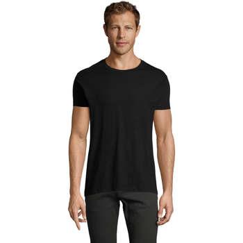 Kleidung Herren T-Shirts Sols REGENT FIT CAMISETA MANGA CORTA Negro