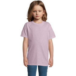 Kleidung Kinder T-Shirts Sols REGENT FIT CAMISETA MANGA CORTA Rosa