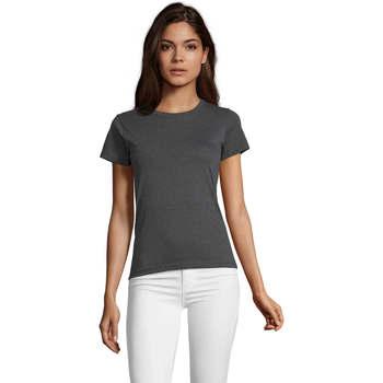 Kleidung Damen T-Shirts Sols REGENT FIT CAMISETA MANGA CORTA Gris