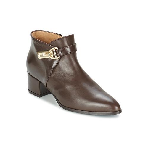 Marian MARINO Braun  Schuhe Ankle Boots Damen 108