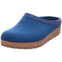 Schuhe Damen Leinen-Pantoletten mit gefloch Haflinger Grizzly Torben trkis (293)