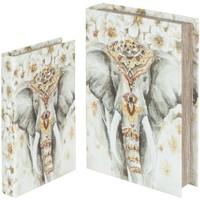 Home Körbe, Kisten, Regalkörbe Signes Grimalt Elefantenbuchboxen Set 2U Multicolor