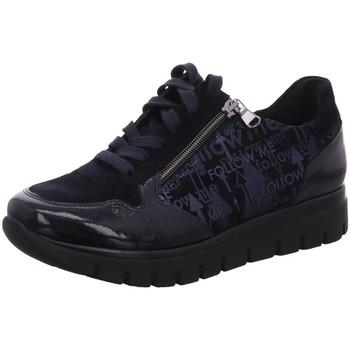 Schuhe Damen Sneaker Low Semler Schnuerschuhe Silvia S2025-513-080-Silvia blau