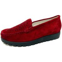 Schuhe Damen Slipper Waldläufer  rot