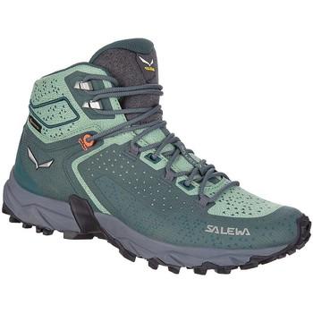 Schuhe Damen Wanderschuhe Salewa WS Alpenrose 2 Mid GTX 61374-8540 grün