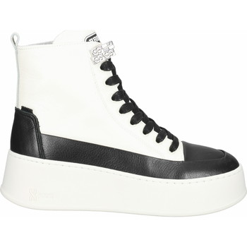 Schuhe Damen Boots Bronx Stiefelette Schwarz/Weiß