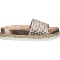 Schuhe Damen Pantoffel La Strada Pantoletten Rose Metallic