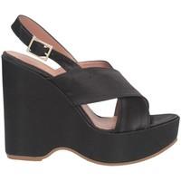 Schuhe Damen Sandalen / Sandaletten Bage Made In Italy 566 Sandalen Frau Schwarz