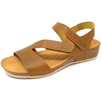 Schuhe Damen Sandalen / Sandaletten Brako Sandaletten Creta amarillo 205 amarillo braun