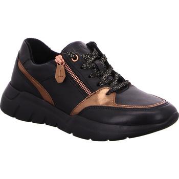 Schuhe Damen Sneaker Low Jana  schwarzgold