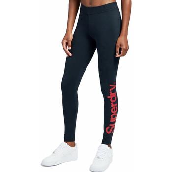 Kleidung Damen Leggings Superdry Core logo graphic Blau